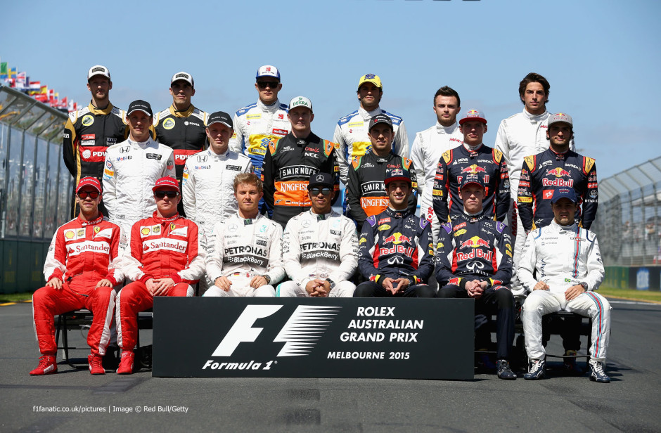 Austraalia GP sõitjate foto