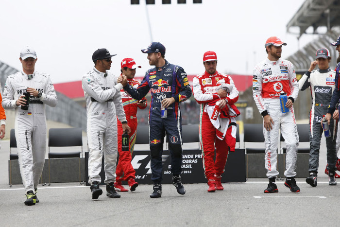F1 sõitjate hooajalõpu ühisfoto