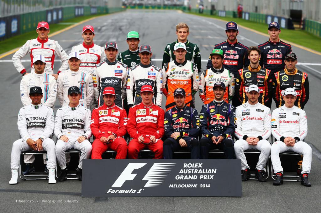 F1 sõitjad hooaja avaetapil Austraalias
