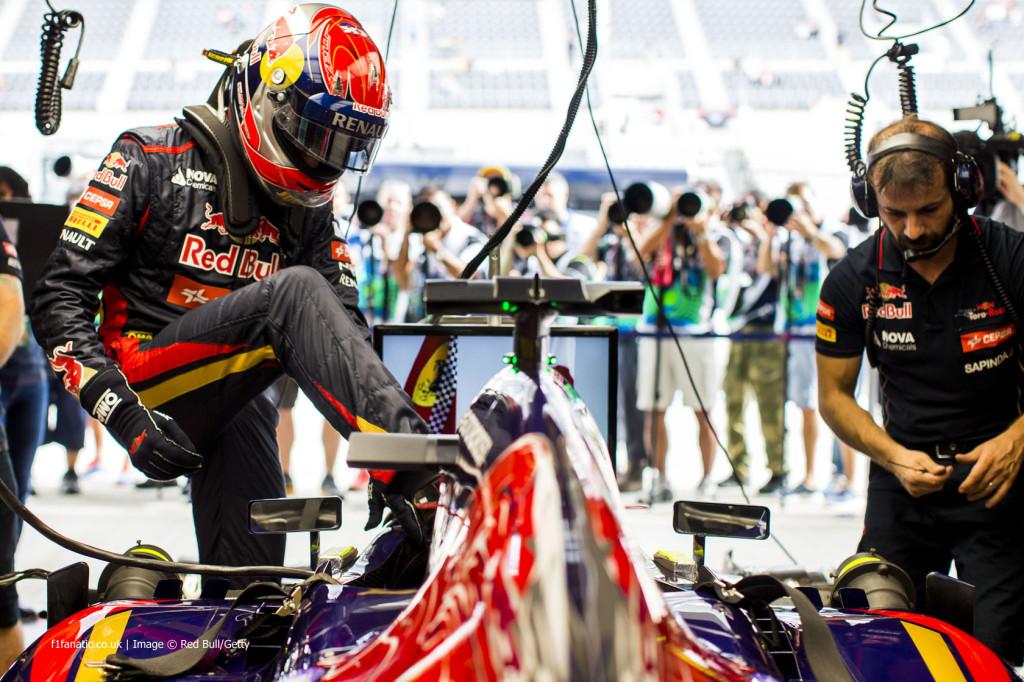 Max Verstappen istumas Toro Rosso rooli Jaapani GP-l