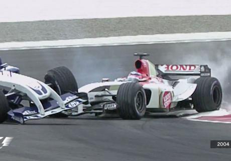 Jenson Button ja Ralf Schumacher 2004. aasta Bahreini GP-l