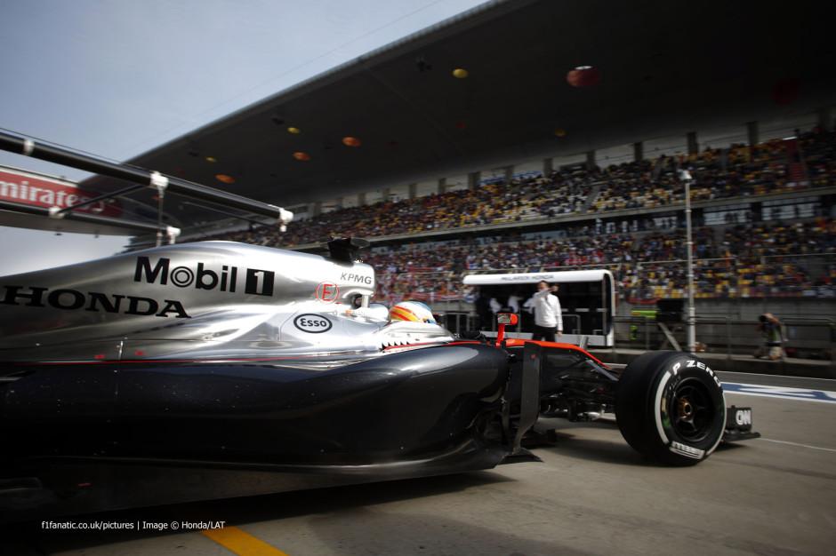 Fernando Alonso McLaren Honda roolis 2015. aasta Shanghai etapil