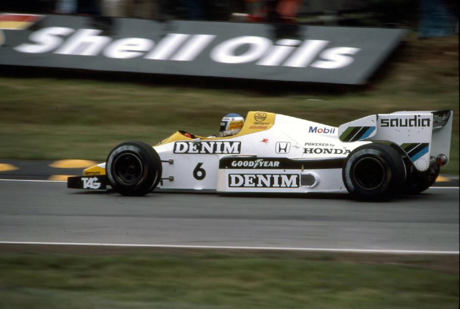 Keke Rosberg 1984. aasta Suurbritannia GP-l Williams FW09 roolis