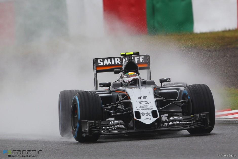 Sergio Perez, Force India, Jaapani GP 2015