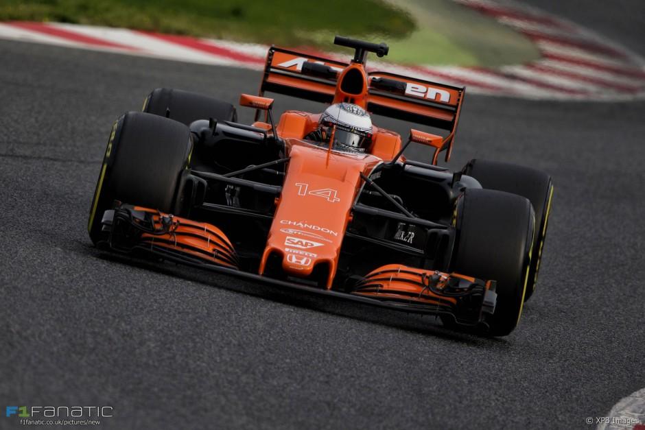 Fernando Alonso, McLaren Honda, Barcelona testidel