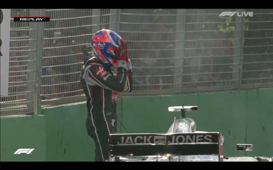 Romain Grosjean, Haas F1 Team, Melbourne, Austraalia 2018
