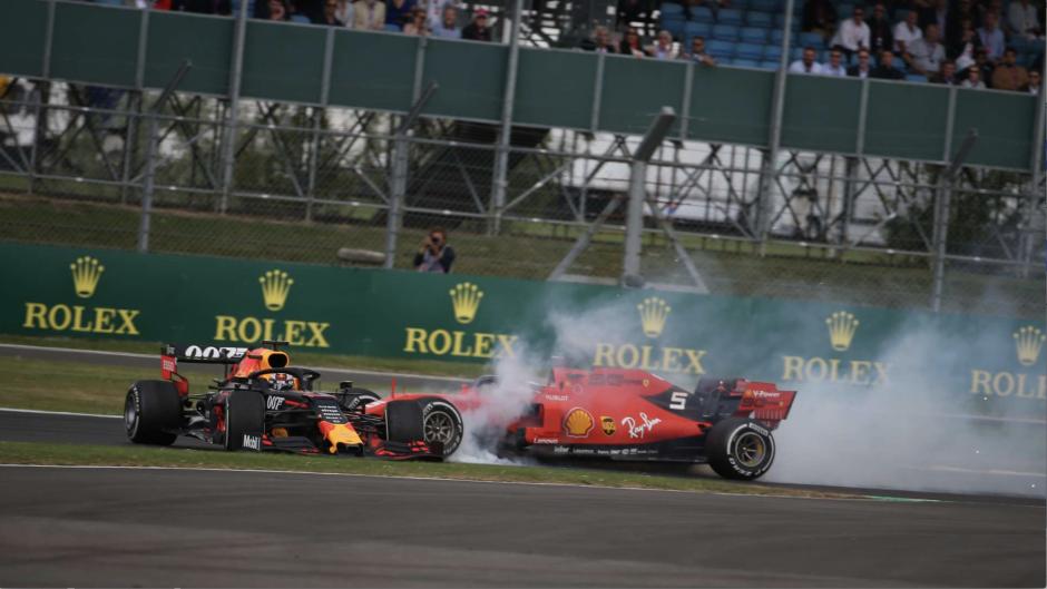 Max Verstappen ja Sebastian Vettel, Suurbritannia Grand Prix 2019