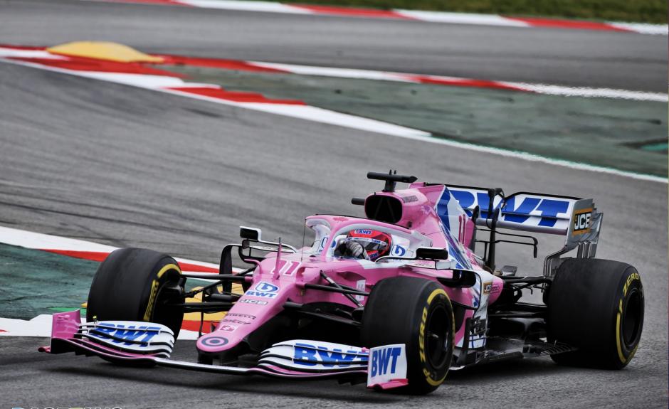 Sergio Perez, Barcelona testid 2020