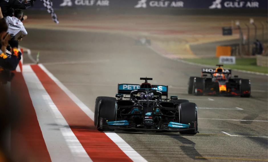 Hamilton ja Verstappen, 2021 Bahreini GP