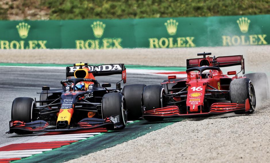 Sergio Perez, Charles Leclerc, Austria GP 2021