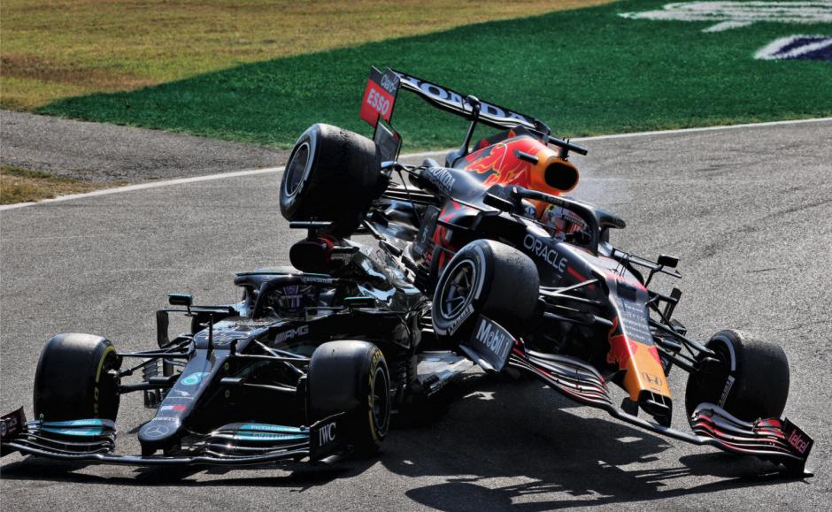 Lewis Hamilton ja Max Verstappen, Itaalia GP 2021